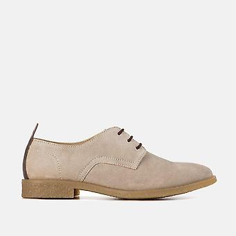 Mia tan suede leather desert shoe