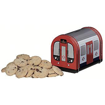 Licensed underground train traditional english mini chocolate chip cookies