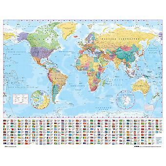 Welt Karte 2012 Mini Poster 40x50cm