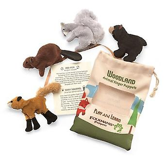 Finger Puppet - Folkmanis - Woodland Animal Set of 4 New 2769