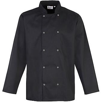 Premier - Studded Front Long Sleeve Chef's Mens Jacket