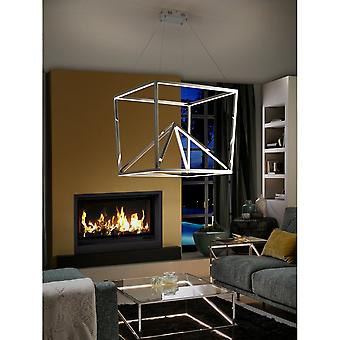 Schuller Oblic LED lampe, rustfrit stål