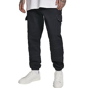 Urban Classics - CARGO Jogging Denim Jeans black