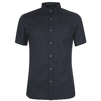 Firetrap mens korte mouw spier casual shirt dagelijks katoen
