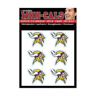 Wincraft 6 سلسلة ملصقا الوجه 3cm -- NFL مينيسوتا الفايكنج