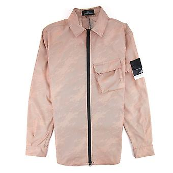 Stone Island Shadow Project Lenticular Zip-up Overshirt Jacket Peach V0083