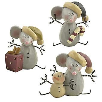 Kerst muizen set van drie
