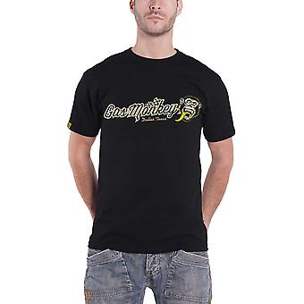 Gaz singe Garage T Shirt Checkered Script Dallas Texas Mens officiel New Black