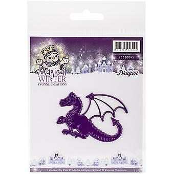 Find It Trading Yvonne Creations Die-Dragon, Magical Winter