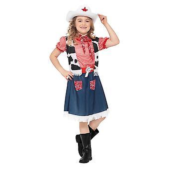 Ragazze Cowgirl Sweetie Fancy Dress Costume