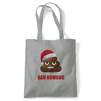 Bah Humbug Poo Emoji, Tote - Reusable Shopping Canvas Bag Gift