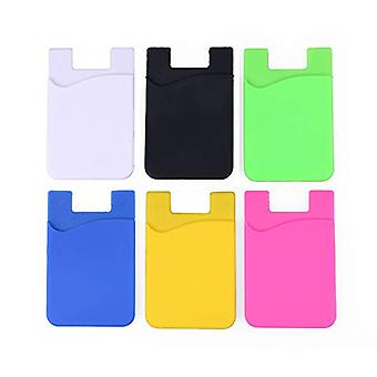6x Silicone sock wallet card cash pocket sticker mix