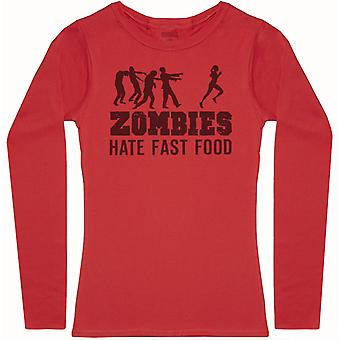 Zombies Hate Fast Food - Womens Long Sleeve T-Shirt