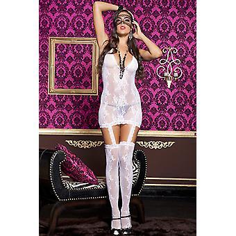 Transparent white Suspender dress