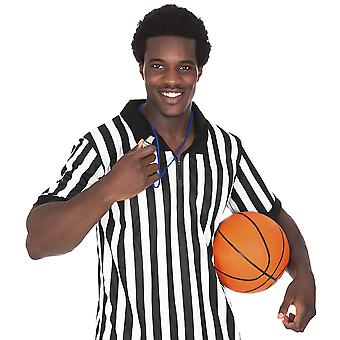 Men's Official Black & White Stripe Referee/Umpire Jersey XL