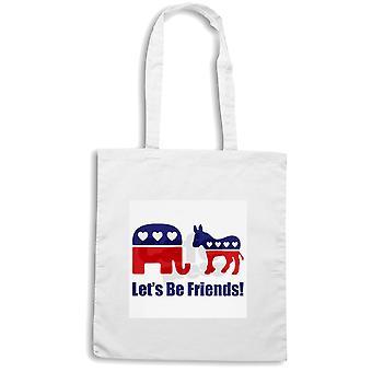 White shopper bag wtc1738 lets be friends