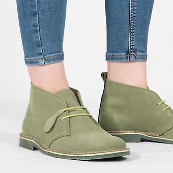 Popps Colour 2.0 Unisex Suede Desert Boots Forest Green