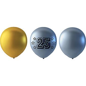 25 year Balloons mix Gold/Silver