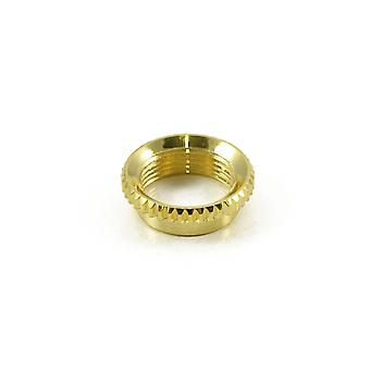 WD Music Knurled Nut For 3 Way Toggle Gold