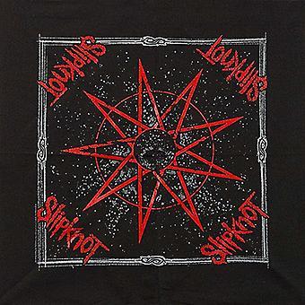 Slipknot sterren katoenen bandana 550 x 550 mm (rz)