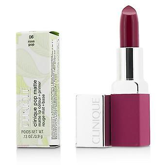 Clinique Pop Matte Lip Colour + Primer - # 06 Rose Pop - 3.9g/0.13oz