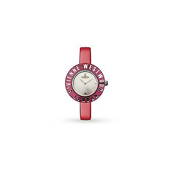 Vivienne Westwood Vv032rd Clarity Pink & Gold Leather Ladies Watch