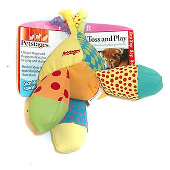 Petetáp Triple Toss & hrať denim tkaniny psie hračka
