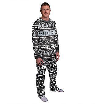 NFL Winter XMAS Pajama Pajama Pajama - Oakland Raiders