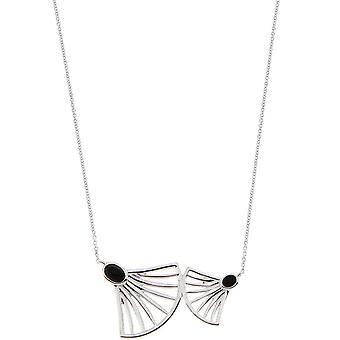 Collar Arielle Silver - Ónix Negro