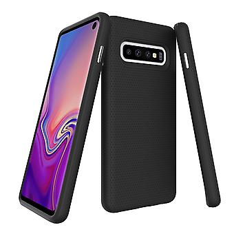 Samsung Galaxy S10 tapauksessa panssarin musta suojaava kestävä ohut puhelimen kansi