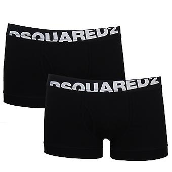 Dsquared2 men's black twin pack boxer trunks