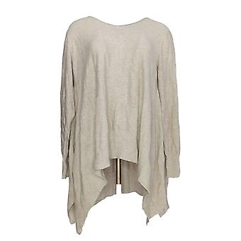 Joan Rivers Classics Collection Women's Sweater Swing Style Beige A342261