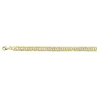 14k Gul Guld Hollow Flat Foxtail Länk Armband 7,50 tums smycken Gåvor för kvinnor - 4,0 gram