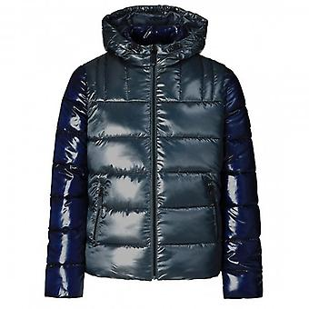 Guess Navy/Green Double Puffa Jacket M94L32WC200