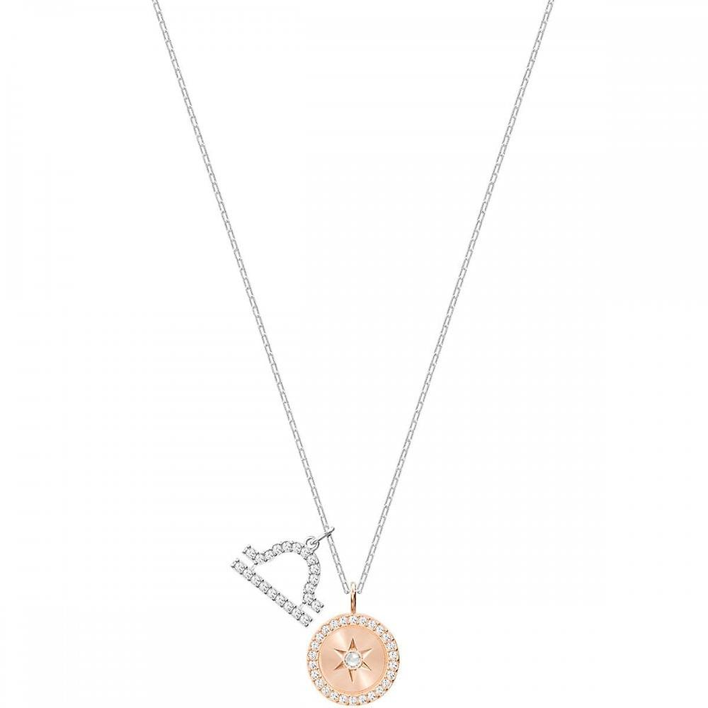 Swarovski Zodiac Rose Gold Tone Plated With White Crystal Libra Pendant 5349218