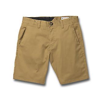 Volcom Frickin Modern Stretch 19 Shorts in Dark Khaki
