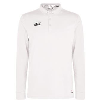 Slazenger Herre Langærmet Cricket Shirt langærmet Top Sports T-shirt