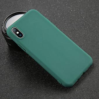 USLION iPhone 8 Ultraslim سيليكون حالة TPU حالة الغطاء الأخضر