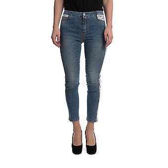 Ermanno Scervino D367p307bkh94037 Women's Blue Cotton Jeans