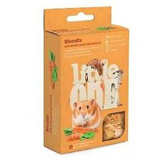 Little One Bizcocho de Snacks con Zanahoria y Espinaca (Small pets , Treats)