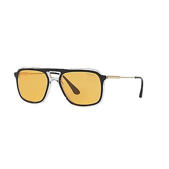 Prada SPR06V 2AF0B7 Top Black-Crystal/Orange Sunglasses