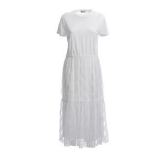 Red Valentino Tr0mj03t54j0bo Women's White Cotton Dress