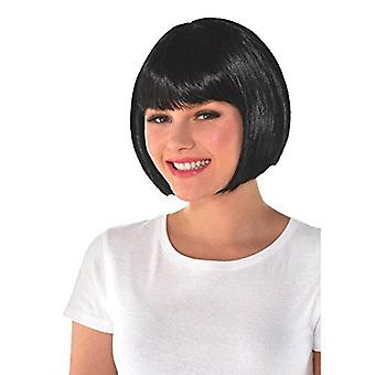 Amscan Bob Party Wig Costume, Black, Black, Size One Size