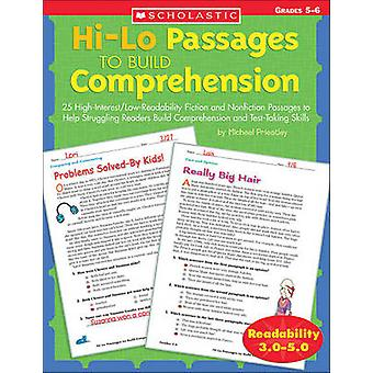 Hi/Lo Passages to Build Reading Comprehension Grades 4-5 - 25 High-Int