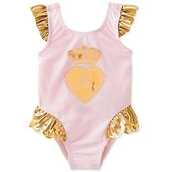 Juicy Couture Girls' Baby Badeanzug, Rosa/Gold, 12M