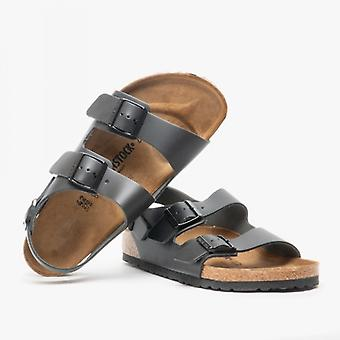Birkenstock Milano 34191 (reg) Mens Leather Two Strap Sandals Black