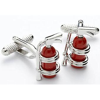 Red Fire Extinguisher Cufflinks by Onyx Art - Gift Boxed - Fireman Firefighter