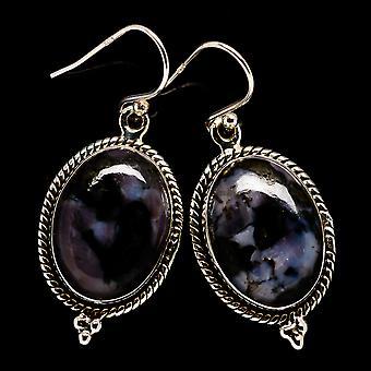 "Brincos Gabbro 1 1/2"" (925 Sterling Silver) - Jóias Boho Vintage Artesanais EARR396542"