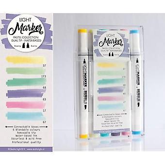 Studio Light Box 6 water gebaseerde dual tip markers pastel MARKER03