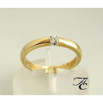 Atelier Christian gold ring with diamond